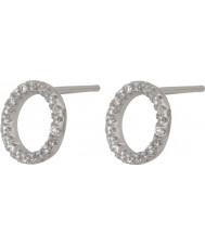 FROST by NOA 345047 Senhoras brincos de prata pino de orelha em forma de círculo