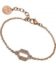 Edblad 31630028 Ladies elvira subiu banhado a ouro pulseira