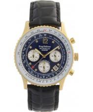 Krug-Baumen 400208DS Relógio de diamante do viajante de ar dos homens