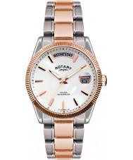 Rotary GB02662-06 relógios Mens havana prata rosa relógio de ouro