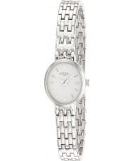 Rotary LB02083-02 Senhoras relógios relógio de prata branco