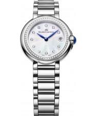 Maurice Lacroix FA1003-SD502-170 Ladies fiaba prata redondo relógio com diamantes