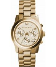Michael Kors MK5055 Ladies pista relógio cronógrafo de ouro