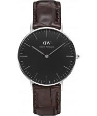 Daniel Wellington DW00100146 relógio clássico 36 milímetros york preto