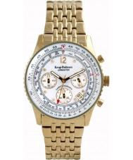 Krug-Baumen 400101DM Mens Airmaster diamante relógio de ouro branco