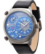 Police 14542JSU-13 Mens elapid couro preto relógio pulseira