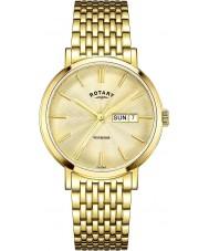Rotary GB05303-03 Mens relógios Windsor ouro relógio banhado