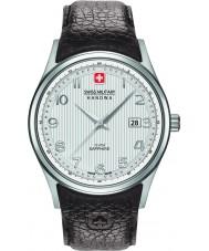 Swiss Military 6-4286-04-001 Mens navalus marrom relógio de pulseira de couro