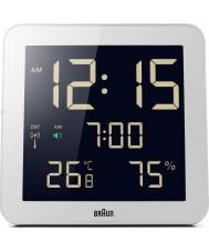 Braun BNC014WH-RC relógio de parede controlado por rádio Global - branco