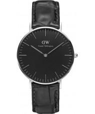 Daniel Wellington DW00100147 relógio clássico 36 milímetros de leitura preto