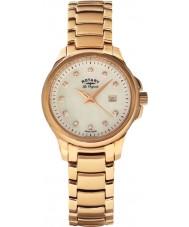 Rotary LB90120-41 Ladies les originales prímula subiu relógio de ouro