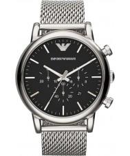 Emporio Armani AR1808 Mens clássico cronógrafo de prata pulseira de malha de relógio