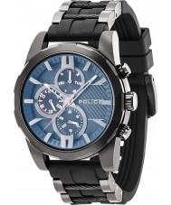 Police 14541JSB-02PA Mens matchcord relógio pulseira preta platsic