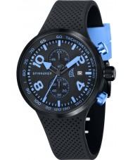Spinnaker SP-5029-04 Mens relógio pulseira de silicone integrada preto dinâmico