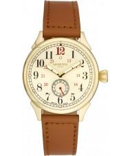 Minster 1949 MN03GLGL10 Mens Boyland tan pulseira de relógio de couro