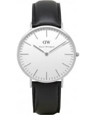 Daniel Wellington DW00100020 Mens clássico 40 milímetros relógio Sheffield prata