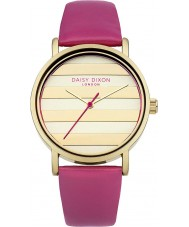 Daisy Dixon DD009PG Ladies poppy ouro couro rosa pulseira de relógio