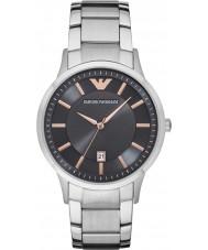 Emporio Armani AR2514 Mens vestido de prata pulseira de aço relógio
