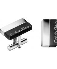 Calvin Klein KJ5RBC210100 Homens impulso abotoaduras
