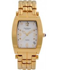 Krug-Baumen 1963DMG Tuxedo ouro 4 diamantes pulseira de ouro mostrador branco