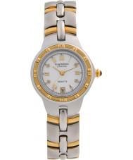 Krug-Baumen 2614DL Regatta 4 diamante mostrador branco pulseira de dois tons