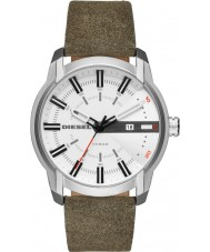 Diesel DZ1781 Mens armlock couro verde relógio de pulseira