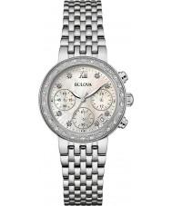 Bulova 96W204 Damas de diamante de aço de prata pulseira relógio cronógrafo
