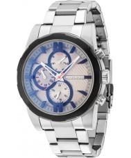 Police 14541JSTB-13M Mens matchcord prata relógio pulseira de aço