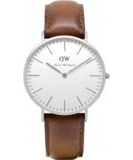 Daniel Wellington DW00100021 Mens clássico 40mm st mawes relógio de prata