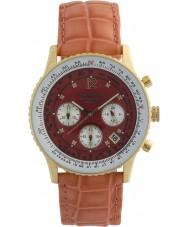 Krug-Baumen 400209DS viajante de ar de marcação vermelho pulseira vermelha