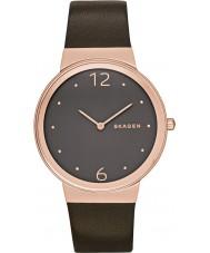 Skagen SKW2368 As senhoras de chocolate freja relógio com pulseira de couro