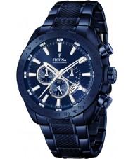 Festina F16887-1 prestígio Mens aço azul relógio cronógrafo