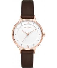 Skagen SKW2472 Ladies Anita marrom escuro relógio de pulseira de couro