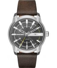 Diesel DZ1782 Mens armlock marrom escuro relógio de pulseira de couro