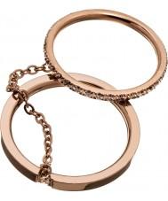 Edblad 41530046-XL Senhoras anéis de ouro brilhante rosa - tamanho s (XL)