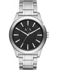 Armani Exchange AX2320 vestido de aço pulseira de prata relógio dos homens