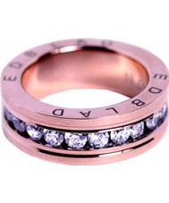 Edblad 79439 Senhoras saturnus rosa banhado a ouro anel com cristais - tamanho n (s)