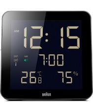 Braun BNC014BK-RC relógio de parede controlado por rádio Global - preto