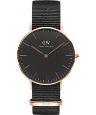 Daniel Wellington DW00100150 relógio clássico 36 milímetros Cornwall preto
