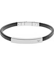 Emporio Armani EGS2063040 assinatura dos homens pulseira de aço carbono negro