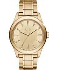 Armani Exchange AX2321 dos homens vestido banhado a ouro pulseira relógio