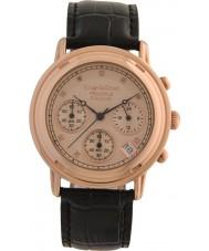 Krug-Baumen 150577DM mens diamante Princípio subiu relógio pulseira de ouro