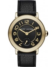 Marc Jacobs MJ1471 Ladies riley couro preto pulseira de relógio