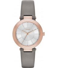 DKNY NY2296 Ladies Stanhope 2,0 mate couro cinza pulseira de relógio