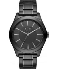 Armani Exchange AX2322 vestido preto de aço pulseira de relógio dos homens