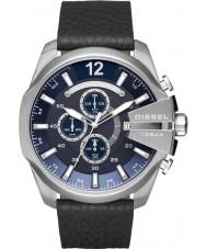 Diesel DZ4423 Mens mega-chefe de relógio de couro preto cronógrafo