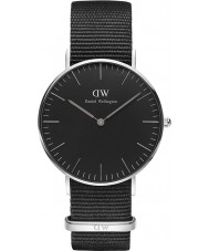 Daniel Wellington DW00100151 relógio clássico 36 milímetros Cornwall preto