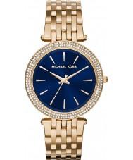 Michael Kors MK3406 Ladies darci azul marinho ouro relógio banhado