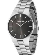 Police 14640MS-61M Mens esplendor de aço de prata pulseira de relógio