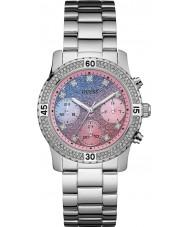 Guess W0774L1 Ladies confetti prata pulseira de aço relógio